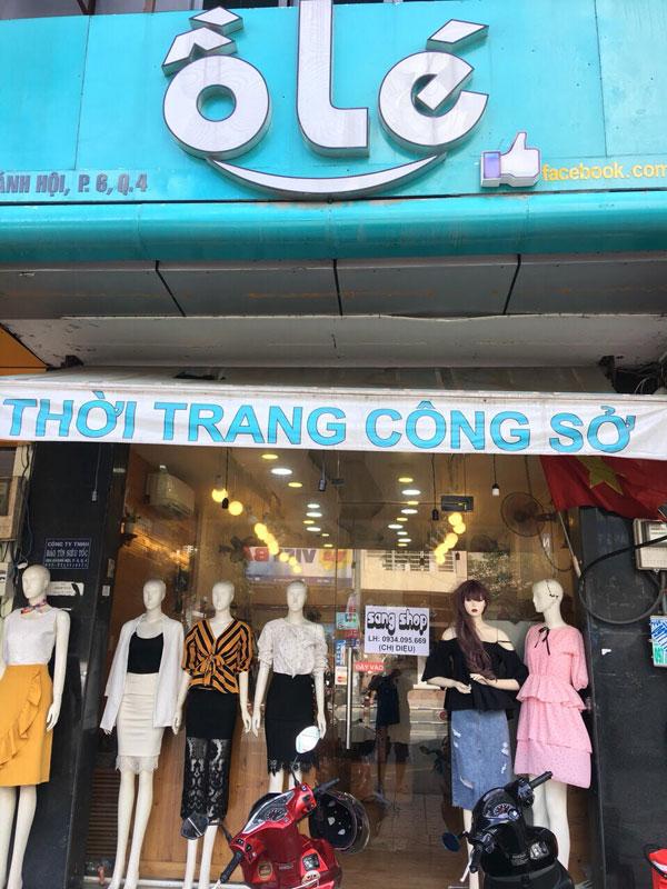 Sang Gấp shop thời trang nữ mặt tiền 204 Khánh Hội Phường 6 Quận 4