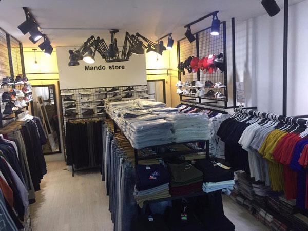Sang Shop Quần Áo Nam Thời Trang khu vực kinh doanh sầm uất