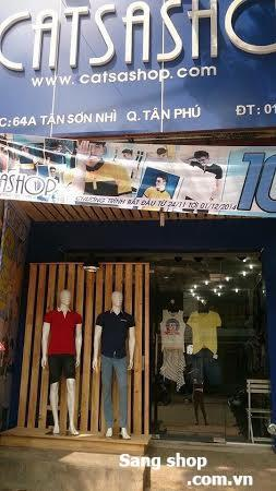 Cần sang gấp shop thời trang nam mặt tiền Tân Sơn Nhì