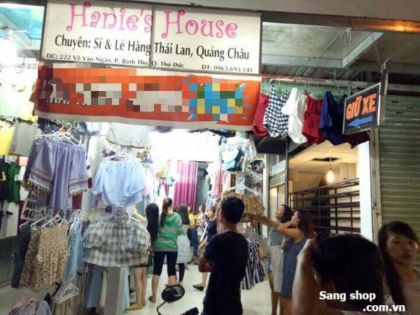 Cần sang lại shop thời trang mặt tiền đường Võ Văn Ngân