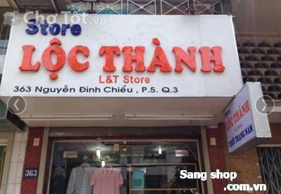 Cần sang nhượng mặt bằng shop đang kinh doanh quần áo nam