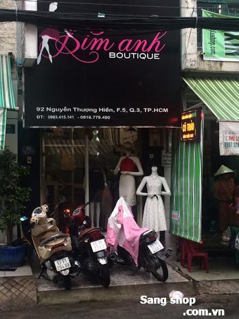Cần sang shop mặt tiền Nguyễn Thượng Hiền