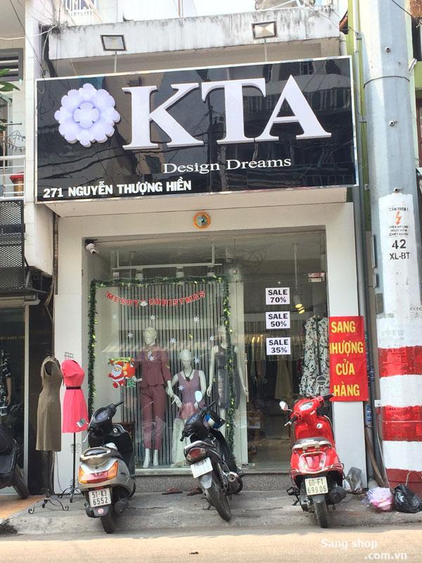 Cần sang Shop ngay mặt tiền Nguyễn Thượng Hiền