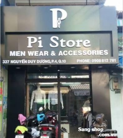 Cần sang shop thời trang nam quận 10