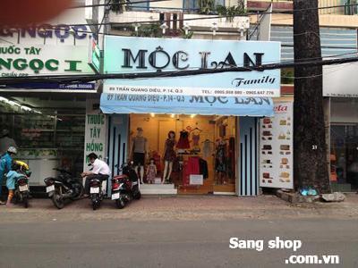 Sang gấp MB shop đường Trần Quang Diệu