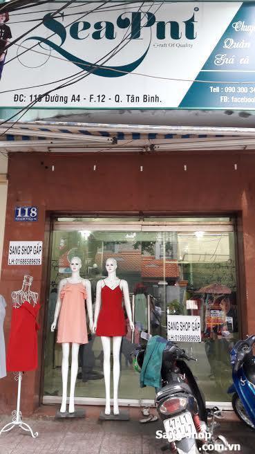 Sang gấp shop thời trang giá rẻ quận Tân Bình