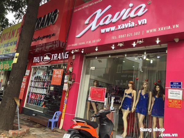 Sang mặt bằng shop 2 mặt tiền Quang Trung,