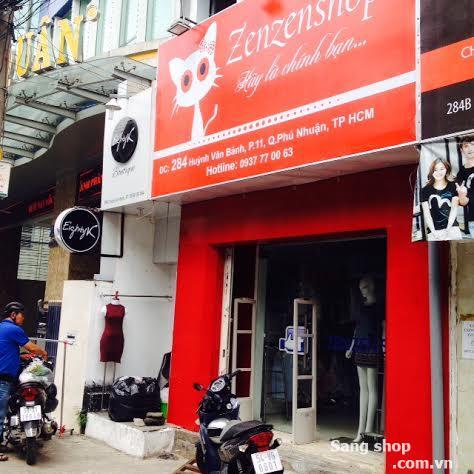 Sang mặt bằng Shop 284 đường Huỳnh Văn Bánh