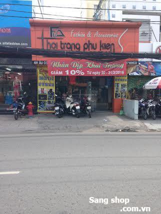Sang mặt bằng shop giày Q.Tân Phú