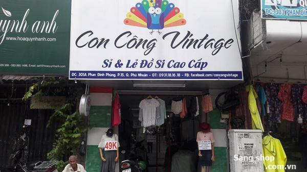 Sang mặt bằng shop mặt tiền đường Phan Đình Phùng