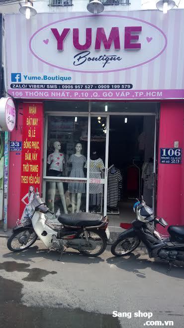 Sang mặt bằng shop mặt tiền đường Thống Nhất