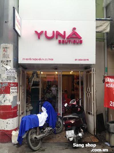 Sang mặt bằng shop thời trang Nguyễn Thượng Hiền, Q.3