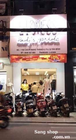 Sang mặt shop Đường CMT8 P4 Quận Tân Bình