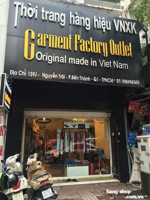 Sang nhượng shop kinh doanh quần áo