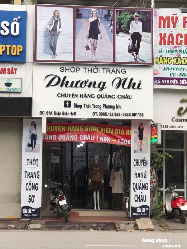 Sang nhượng Shop thời trang nữ tại phố Điện Biên, TP. Nam Định