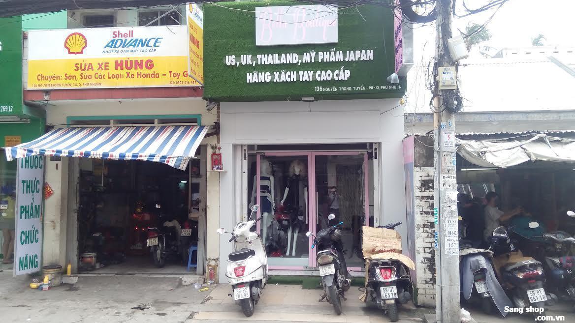 Sang shop đường Nguyễn Trọng Tuyển