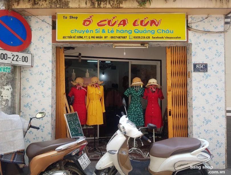 Sang shop hoặc sang mặt bằng shop Phú Nhuận
