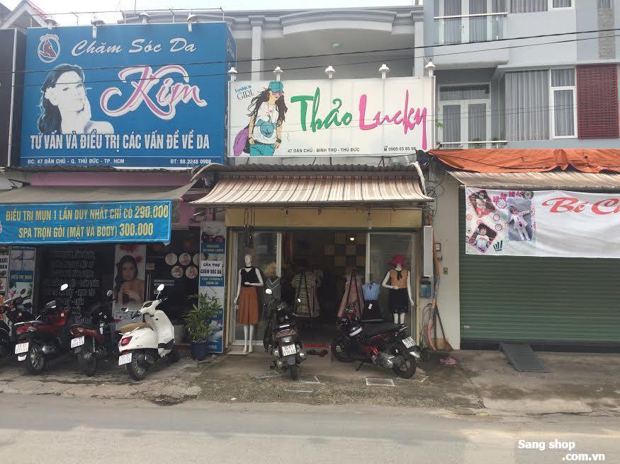 Sang shop mặt tiền đường Dân Chủ