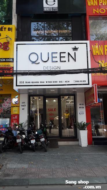 Sang shop mặt tiền đường Trần Quang Khải