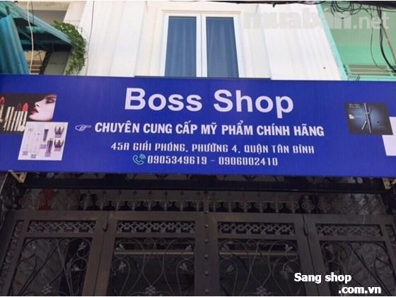 Sang shop mỹ phẩm tại đường giải phóng