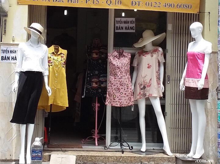Sang shop nữ giá thuê 6tr khu trung tâm ngay cạnh CV lê thị riêng (cmt8)