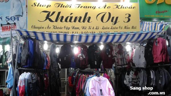 Sang shop quần áo, chợ Hạnh Thông Tây