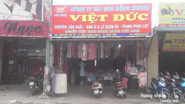 Sang shop quần áo đường Nguyễn Thị Tú