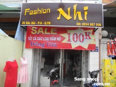 Sang shop thời trang CX Bắc Hải