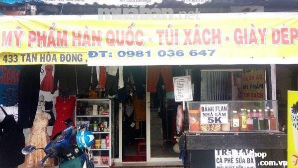 Sang mặt bằng shop 433 Tân Hoà Đông , Bình Trị Đông , Bình Tân