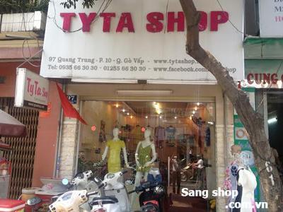sang shop thời trang đường  Quang Trung quận Gò Vấp.