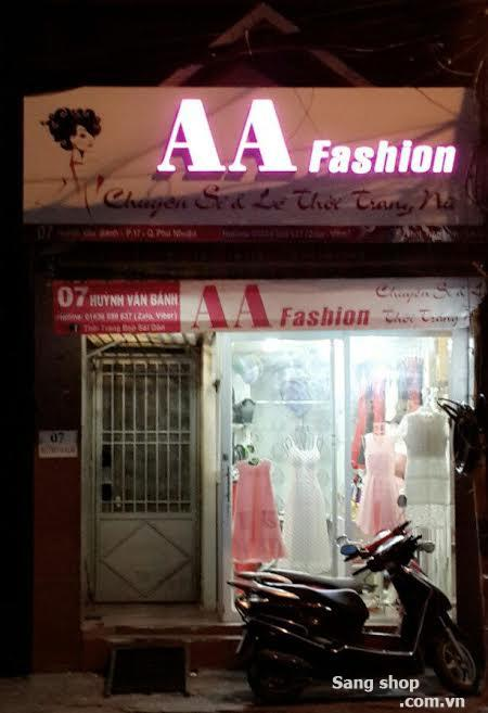 Sang shop thời trang đường Huỳnh Văn Bánh