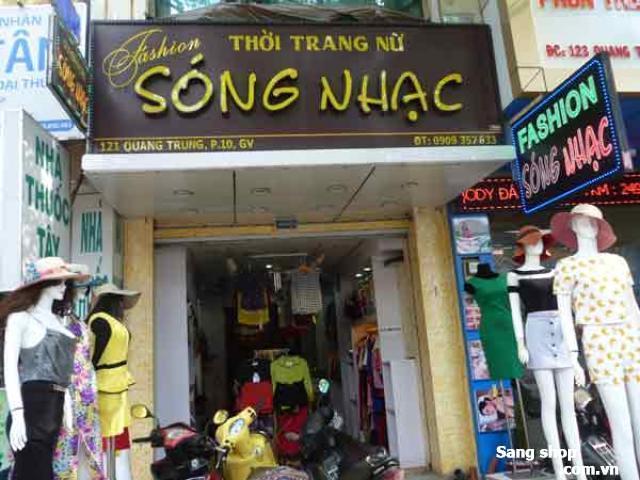 Sang shop thời trang đường Quang Trung