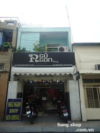 Sang shop thời trang mặt tiền đường Trần Quang Diệu quận 3