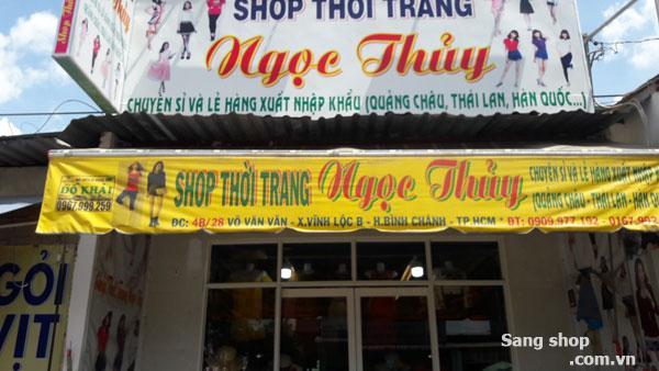 Sang shop thời trang mặt tiền đường Võ Văn Vân