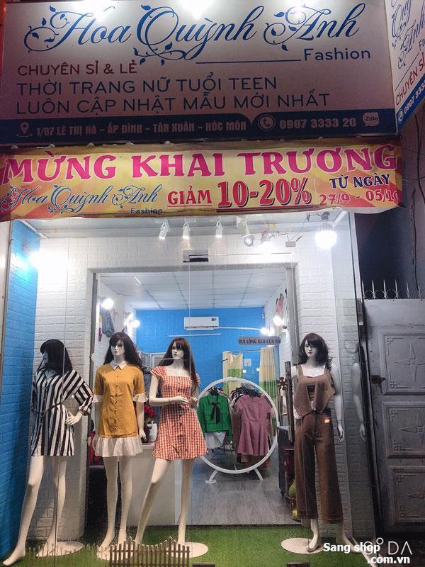Sang shop thời trang mặt tiền Lê Thị Hà, Hóc Môn