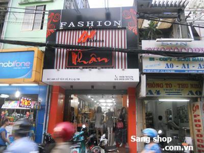 Sang shop thời trang mặt tiền Lê Văn Sỹ, Quận Tân Bình