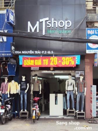 Sang shop thời trang mặt tiền Nguyễn Trãi