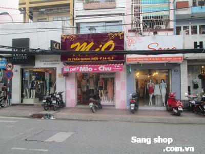 Sang shop thời trang mặt tiền Trần Quang Diệu, Quận 3