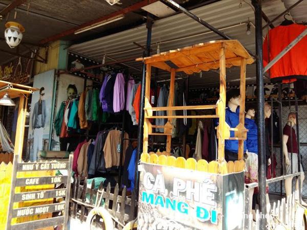 Sang shop thời trang nam và quán cafe 2 mặt tiền