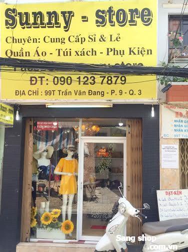 Sang shop thời trang nữ mặt tiền quận 3