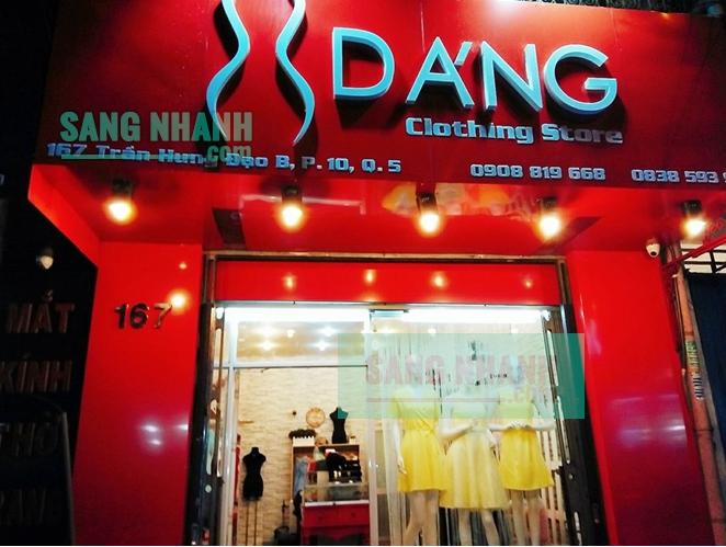 Sang shop thời trang Nữ Quận 5