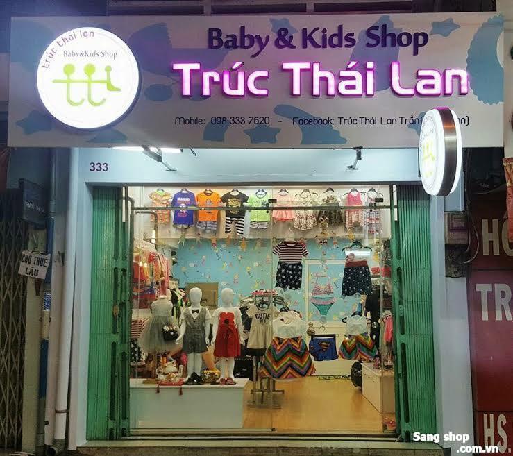 Sang shop thời trang trẻ em hoặc mặt bằng shop