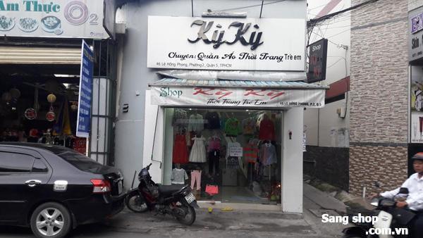 Sang shop thời trang trẻ em ngay đường Lê Hồng Phong