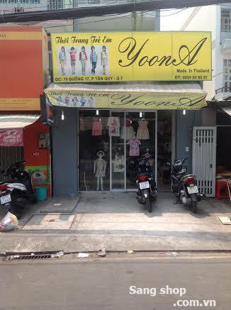 Sang shop thời trang trẻ em quận 7