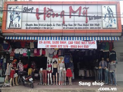 Sang shop thời Trang và Cho thuê MB