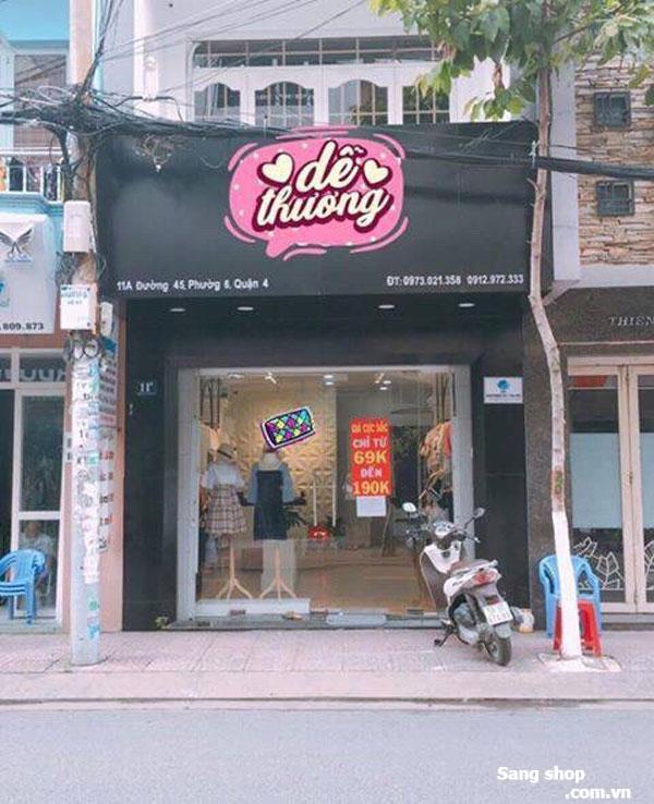 Sang shop thời trang vị trí đẹp, mặt tiền đường, vỉa hè rộng