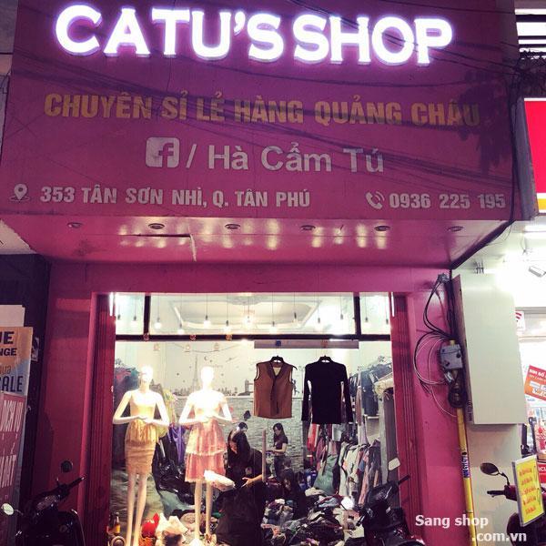 Sang shop trung tâm quận Tân Phú