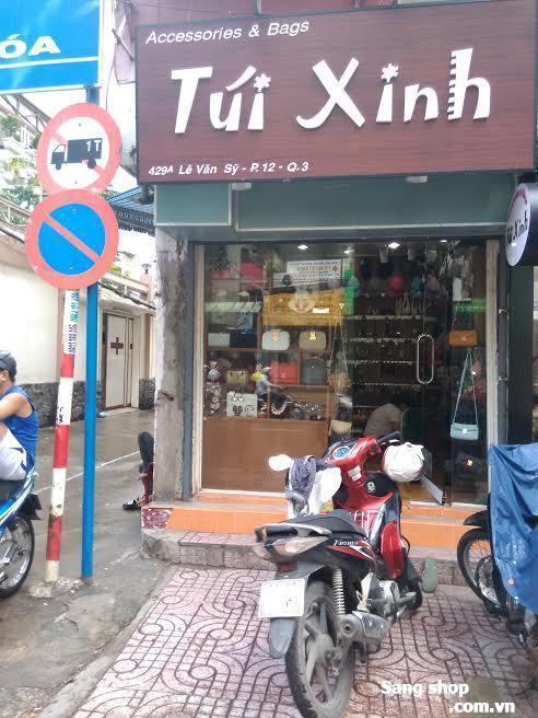 Sang shop túi xách phụ kiện 2 mặt tiền đường lê văn sỹ