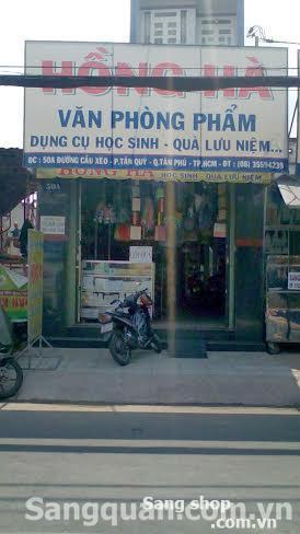 Sang shop văn phòng phâm quận Tân Phú