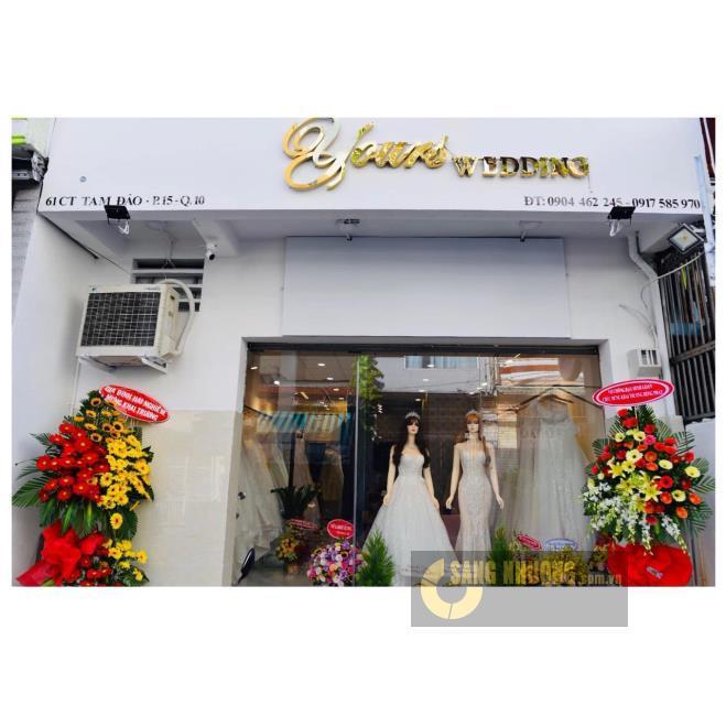 Sang Tiệm Áo cưới giá rẻ trung tâm quận 10.